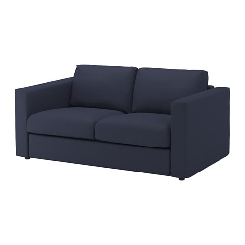 Vimle canap 2 places orrsta bleu noir ikea for Ikea canape 2 places