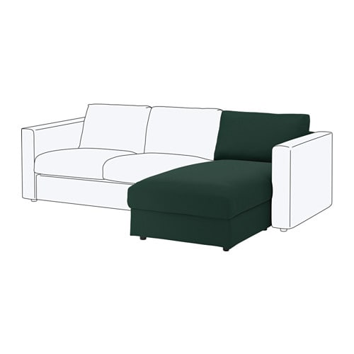 Vimle m ridienne gunnared vert fonc ikea for Canape vimle ikea