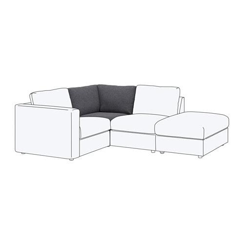Vimle module d 39 angle gunnared gris moyen ikea - Ikea canape d angle ...