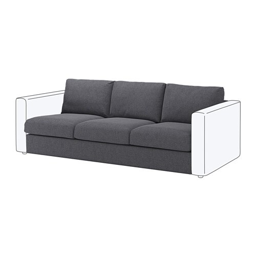 Vimle module 3 places gunnared gris moyen ikea for Canape vimle ikea