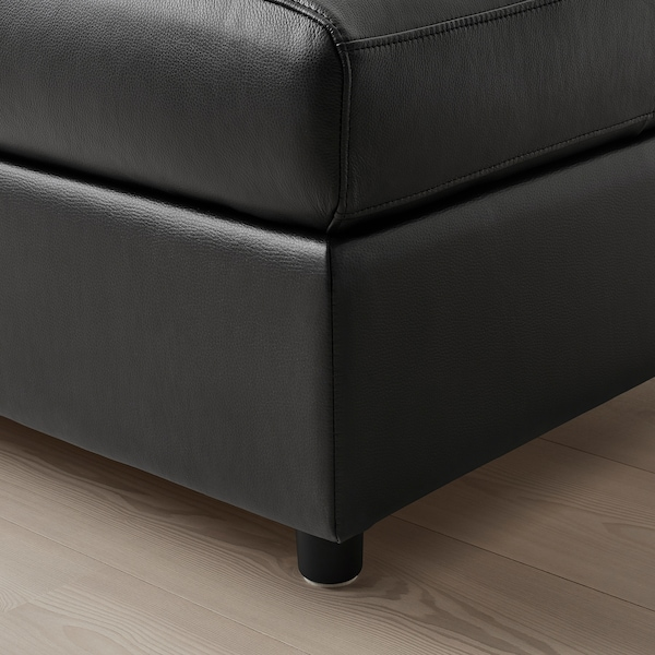 VIMLE Repose-pieds av rangement, Grann/Bomstad noir