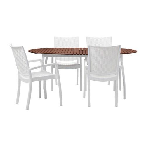 Vindals innamo table 4 chaises accoud ext rieur ikea - Mobilier exterieur ikea ...