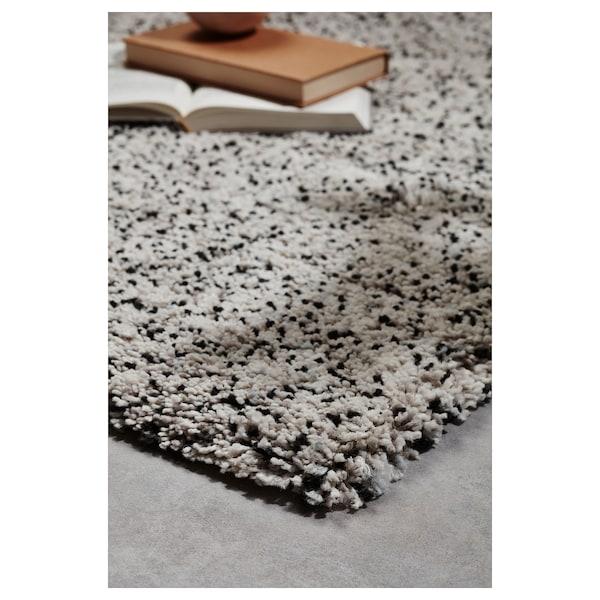 VINDUM Tapis, poils hauts, blanc, 133x180 cm