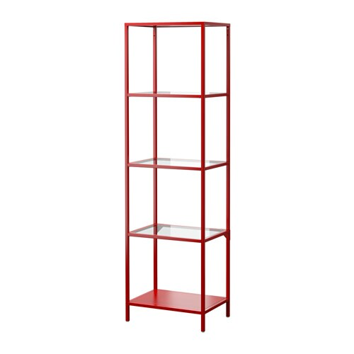 Vittsj tag re rouge verre ikea - Ikea etageres et supports ...