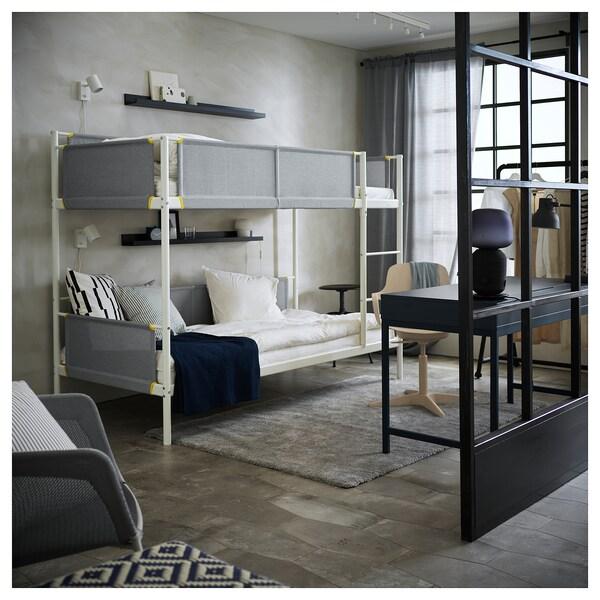 VITVAL structure lits superposés blanc/gris clair 100 kg 207 cm 97 cm 162 cm 23 cm 200 cm 90 cm 91 cm 13 cm