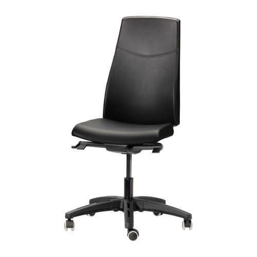 Volmar chaise pivotante mjuk noir ikea for Chaise pivotante