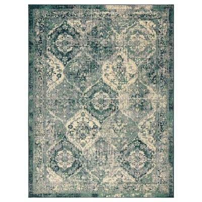 VONSBÄK Tapis, poils ras, vert, 170x230 cm