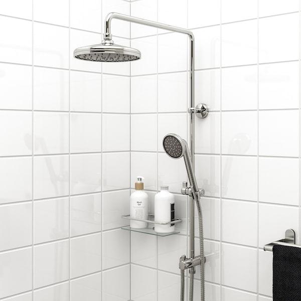 VOXNAN Ensemble douche/douchette+déviateur, chromé