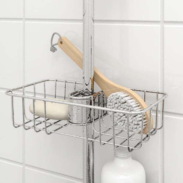 VOXNAN Étagère douche, chromé, 25x6 cm