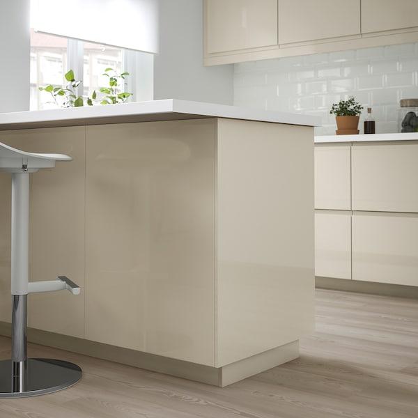 VOXTORP Panneau latéral de finition, brillant beige clair, 39x106 cm
