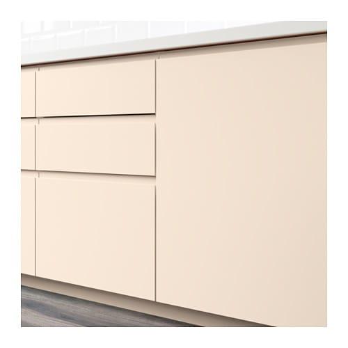 voxtorp porte l ment bas d 39 angle 2pcs droite beige. Black Bedroom Furniture Sets. Home Design Ideas