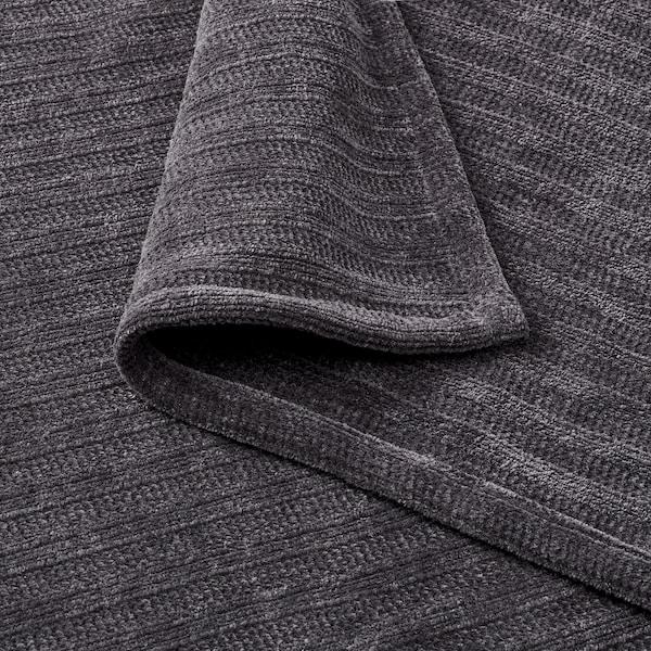 YLVALI Plaid, gris foncé, 130x170 cm