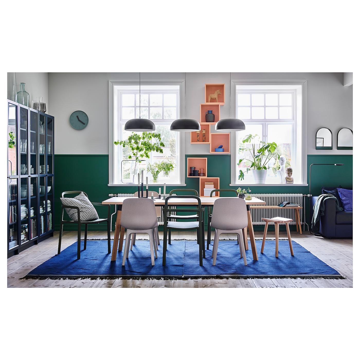 YPPERLIG Chaise à accoudoirs, intextérieur vert