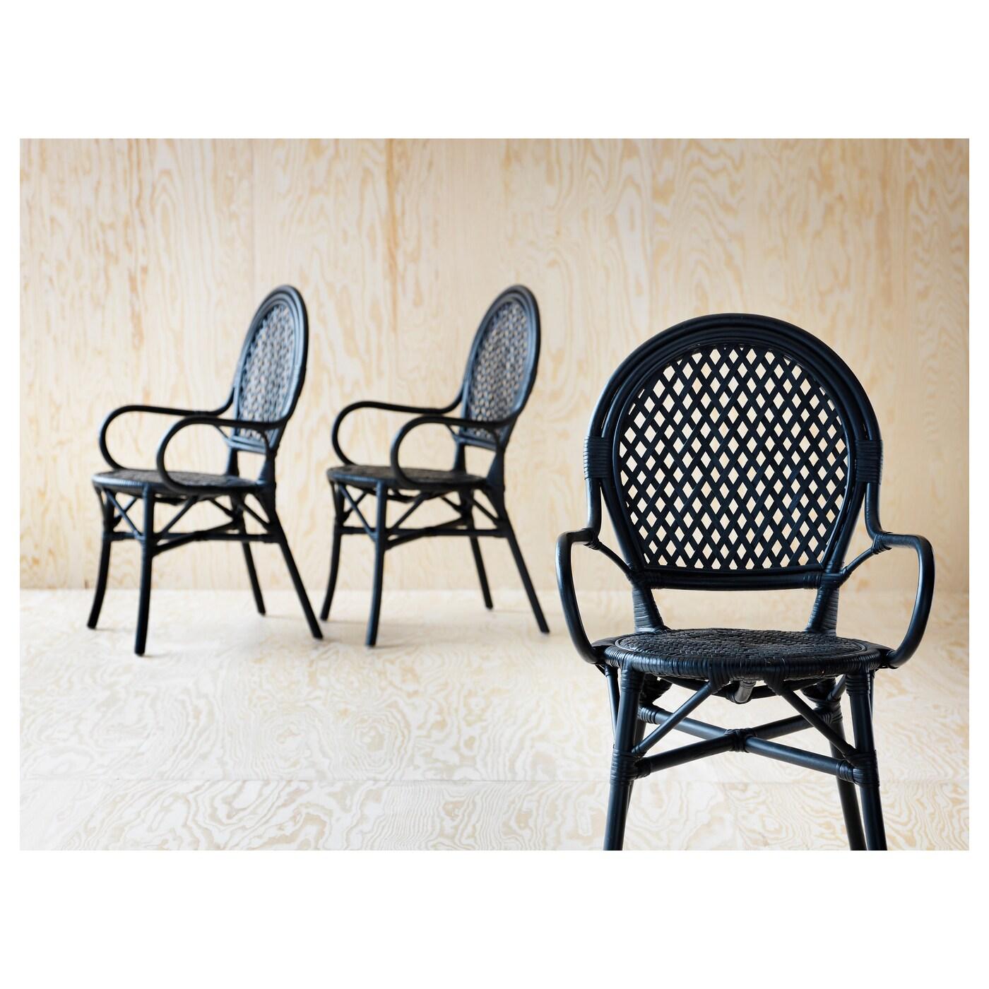 lmsta chair rattan black ikea. Black Bedroom Furniture Sets. Home Design Ideas