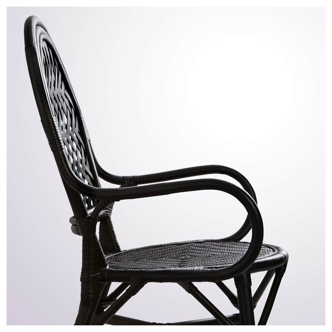 lmsta chair rattan black ikea. Black Bedroom Furniture Sets. Home Design Ideas