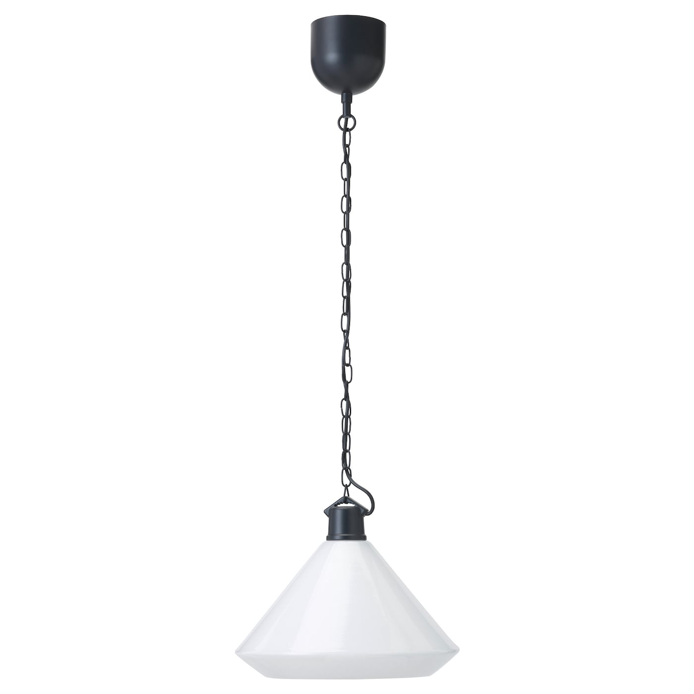 IKEA ÄLVÄNGEN pendant lamp The height is easy to adjust by using the S-hook or cutting the chain.