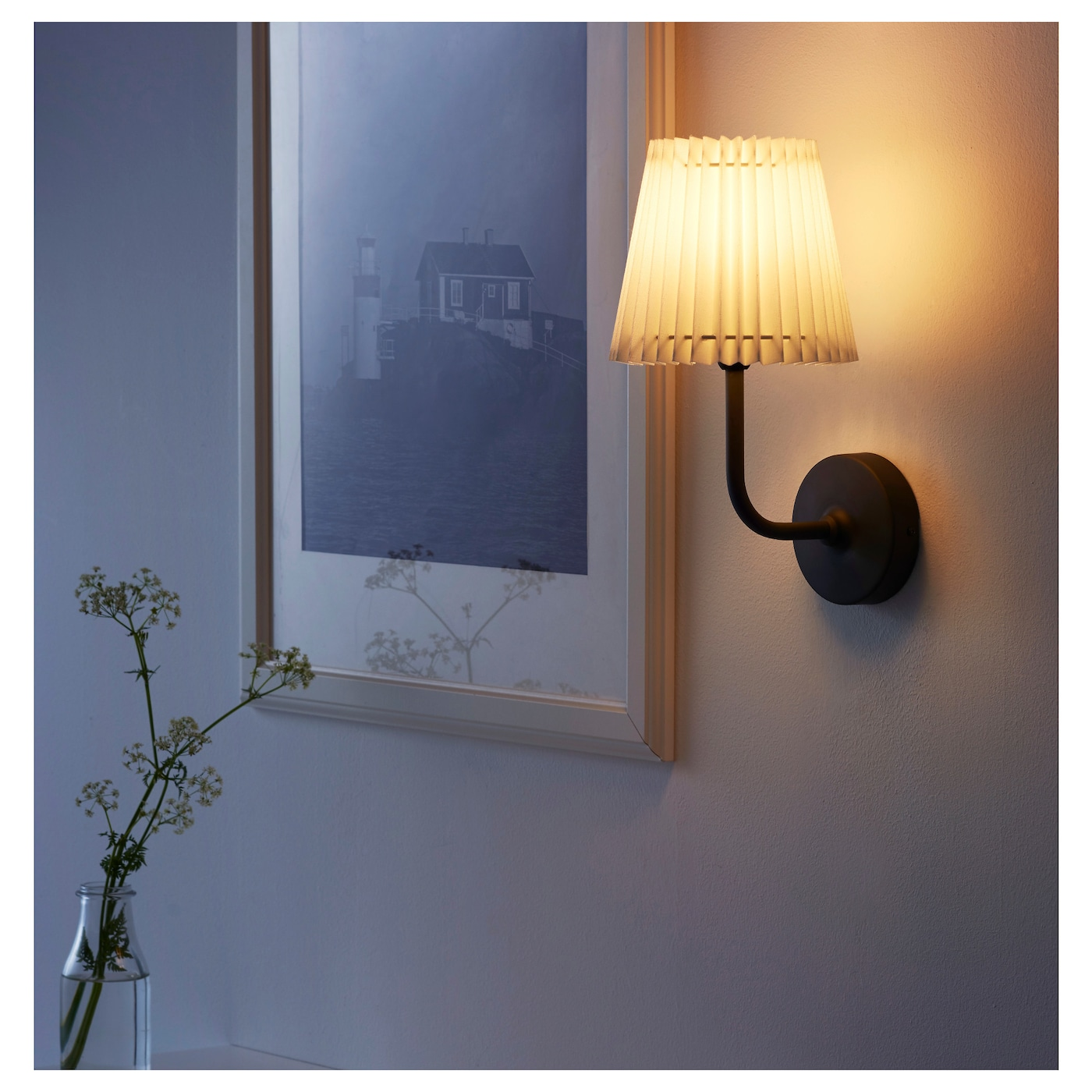 IKEA ÄNGLAND wall lamp, wired-in installation