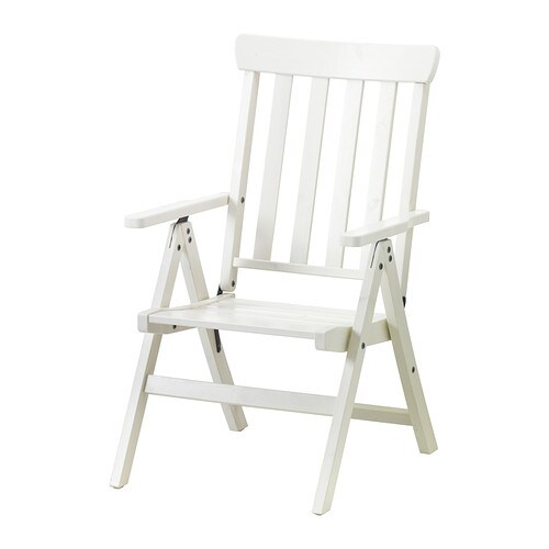 IKEA ÄNGSÖ reclining chair, outdoor The back can be adjusted to six different positions.