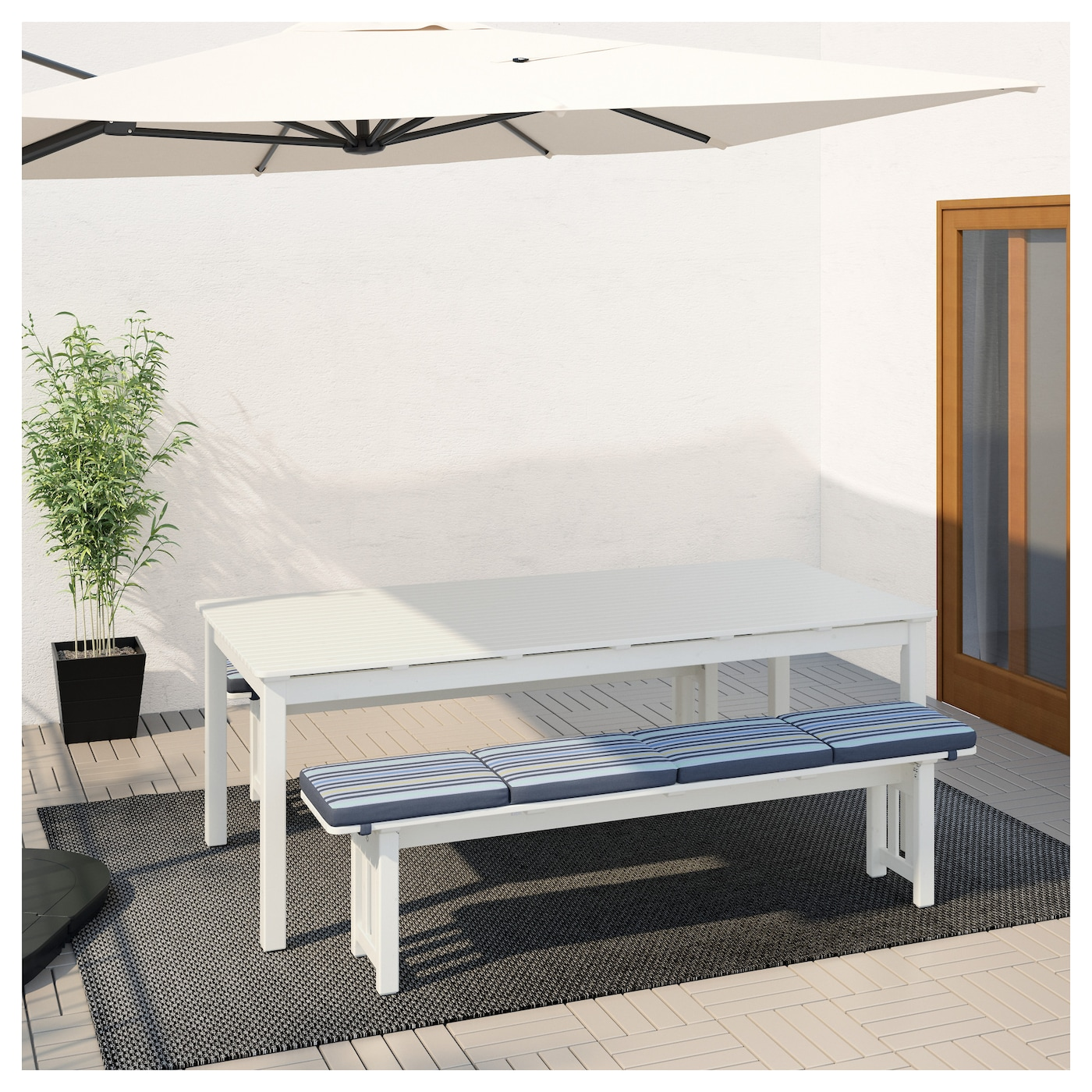 IKEA ÄNGSÖ table+2 benches, outdoor