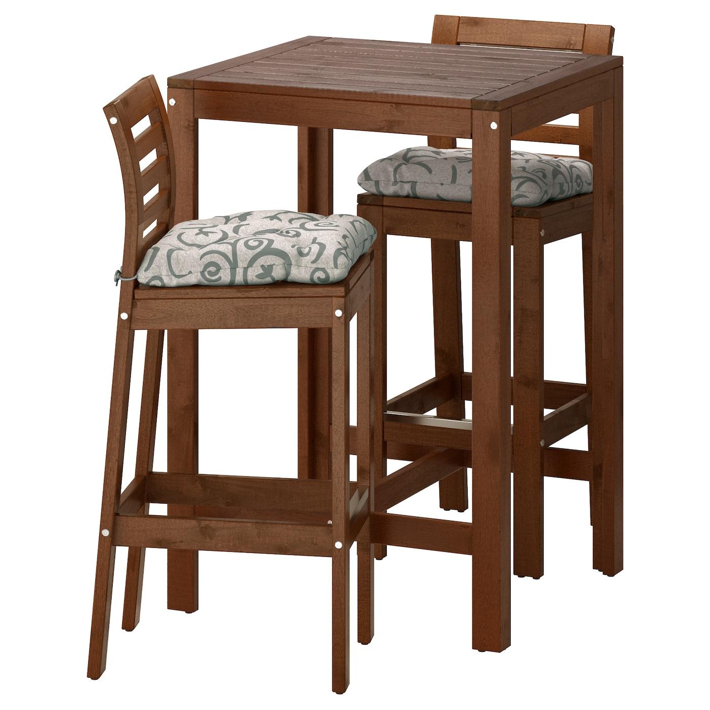 Ikea ÄpplarÖ Bar Table And 2 Stools