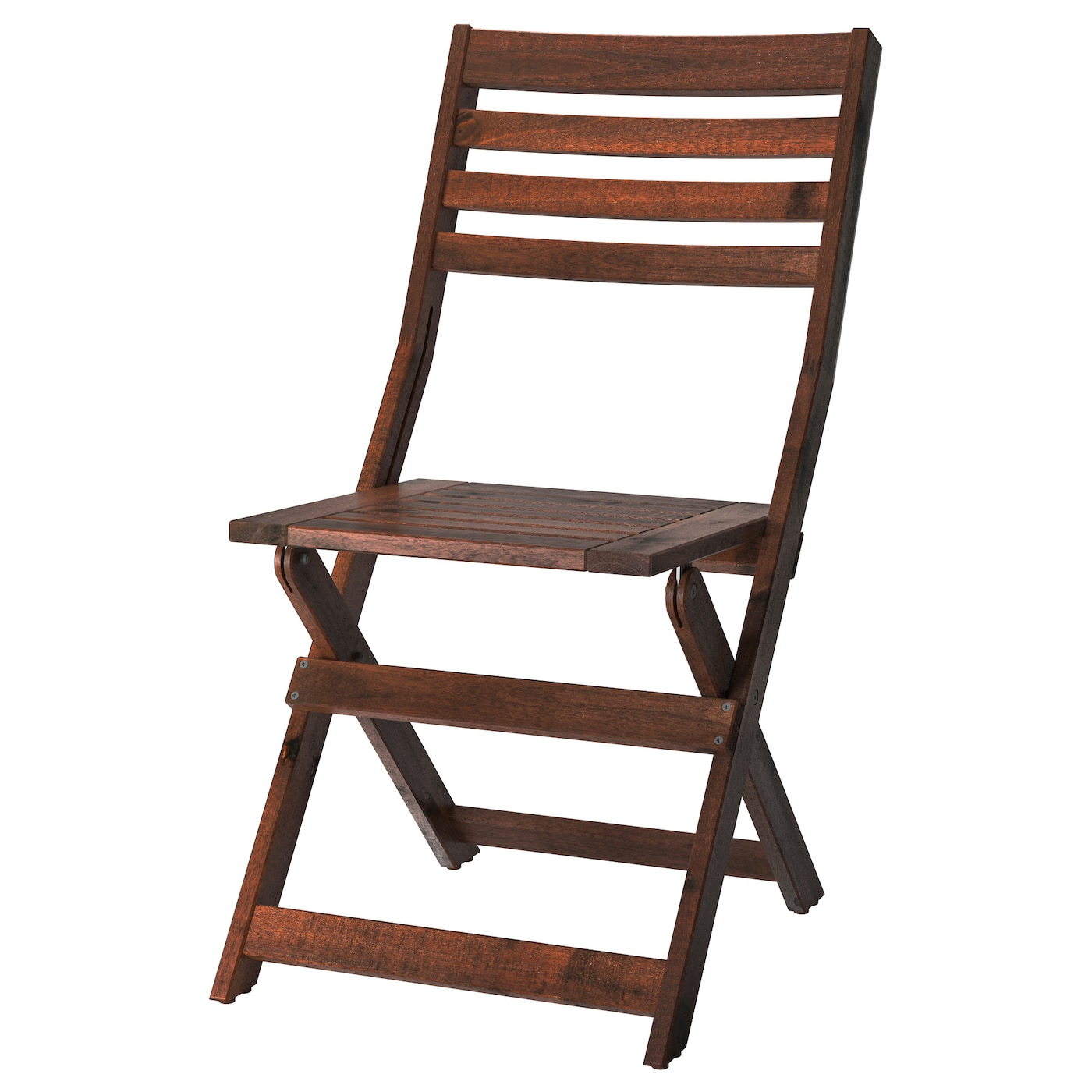 """PPLAR– Chair outdoor Foldable brown stained IKEA"
