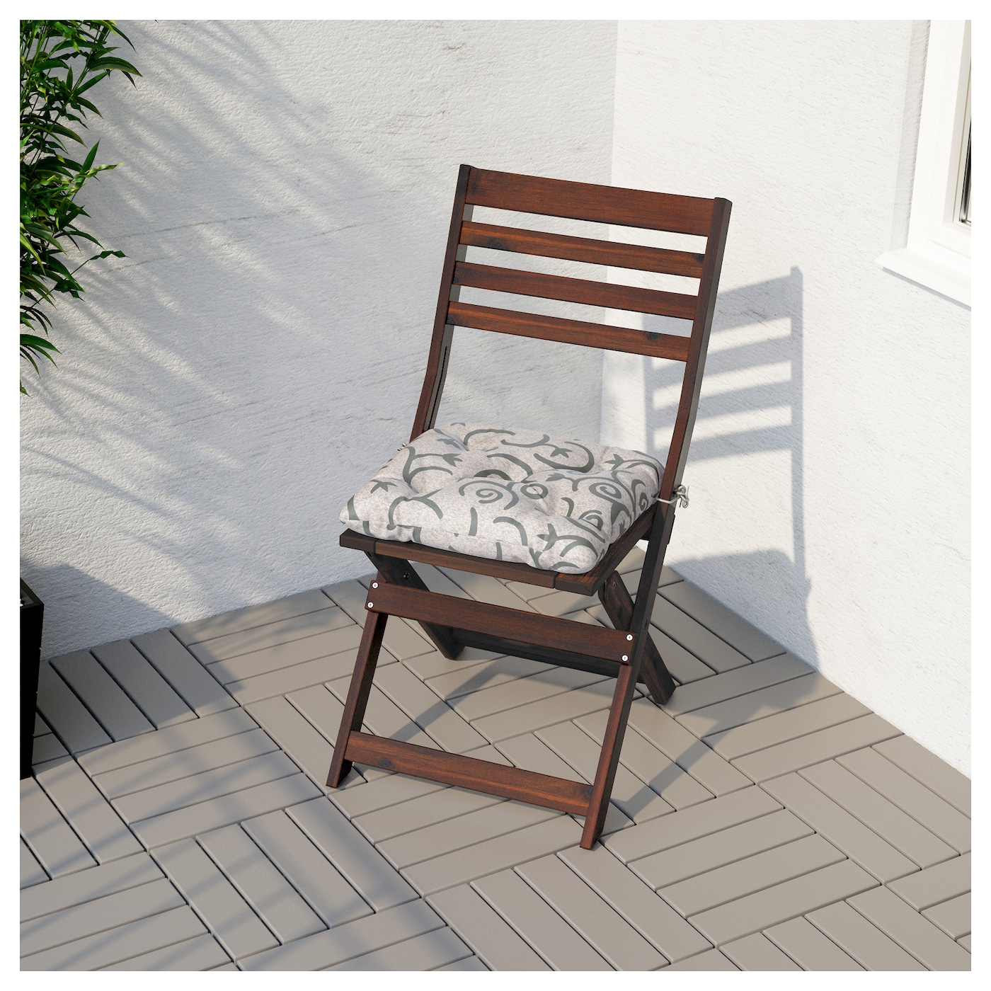 """""""PPLAR– Chair outdoor Foldable brown stained IKEA"""