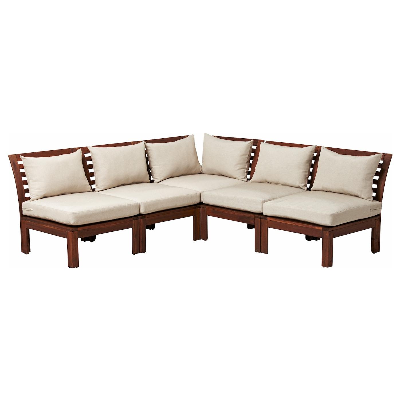 äpplarö corner sofa 3 2 outdoor brown stained hållö beige 206