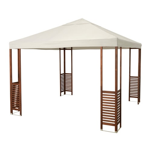 IKEA ÄPPLARÖ gazebo The air vent reduces wind pressure and allows heat to circulate.