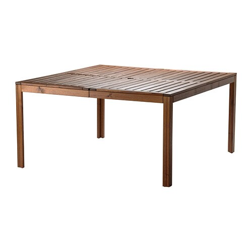 PPLAR Table Outdoor Brown Stained 140x140 Cm IKEA