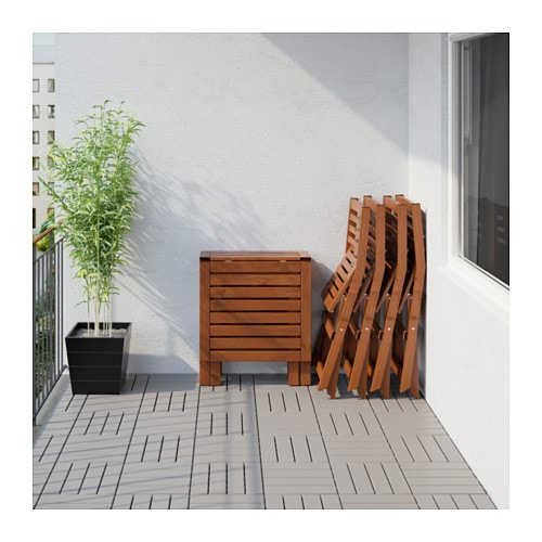 Ikea Outdoor Folding Table And Chairs ~   Table+4 folding chairs, outdoor Brown stained hållö black  IKEA