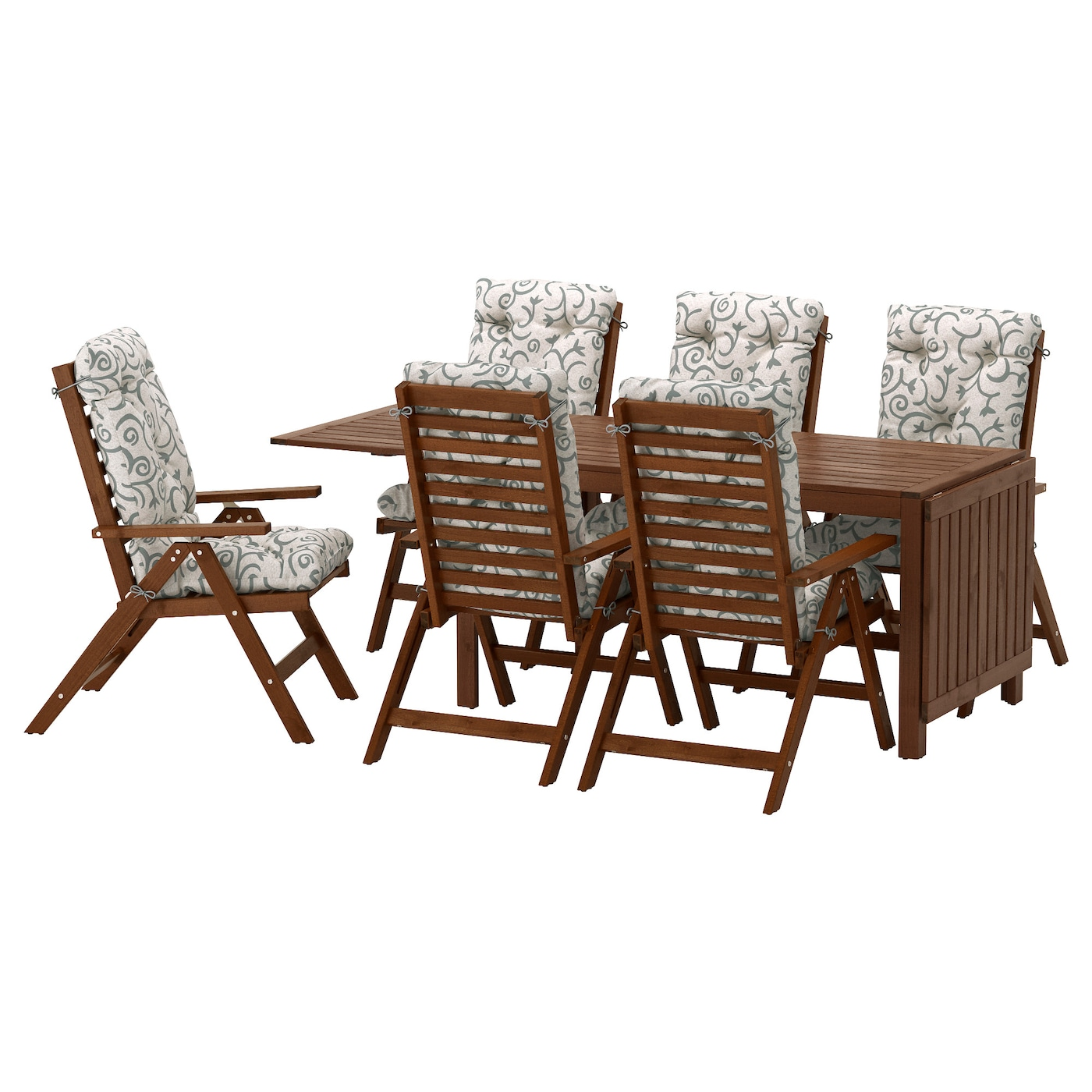 garden table and chair sets india. ikea ÄpplarÖ table+6 reclining chairs, outdoor the chair folds to be easy garden table and sets india