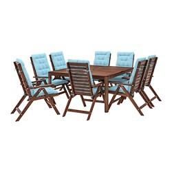 IKEA APPLARO Table 8 Reclining Chairs Outdoor Ties Keep The Seat Back Cushion