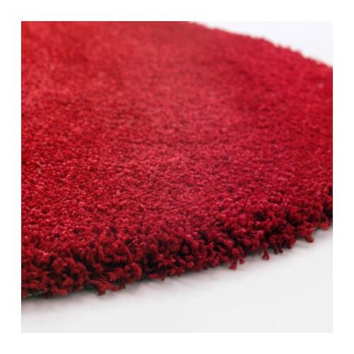 Ikea Round Rug Red: ÅDUM Rug, High Pile Bright Red 130 Cm
