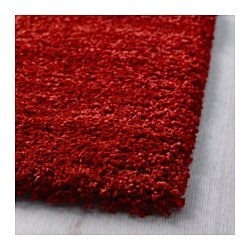 dum rug high pile bright red 170x240 cm ikea. Black Bedroom Furniture Sets. Home Design Ideas