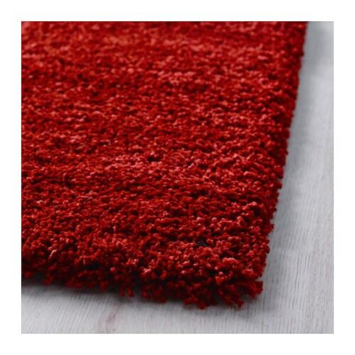dum rug high pile bright red 170x240 cm ikea. Black Bedroom Furniture Sets. Home Design Ideas