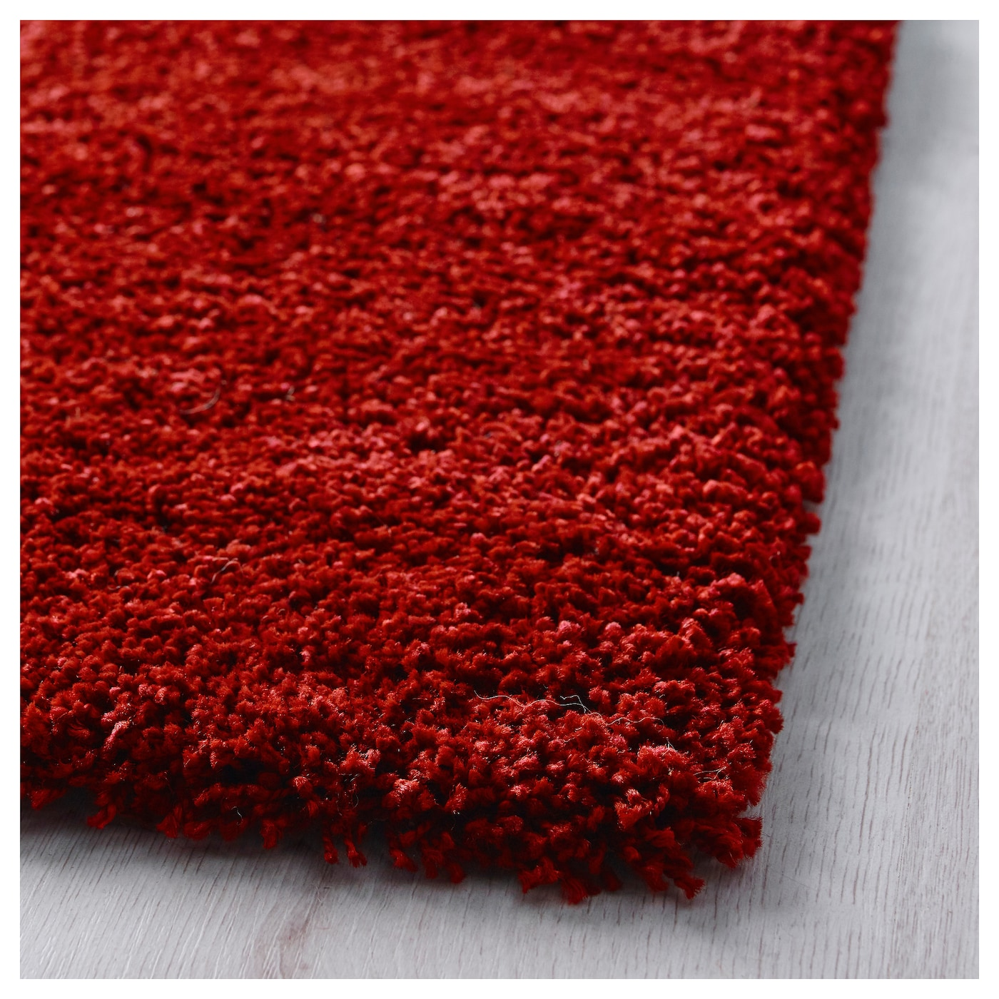 Dum rug high pile bright red 170x240 cm ikea - Ikea tappeti moderni ...