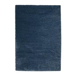 dum rug high pile dark blue 133x195 cm ikea. Black Bedroom Furniture Sets. Home Design Ideas