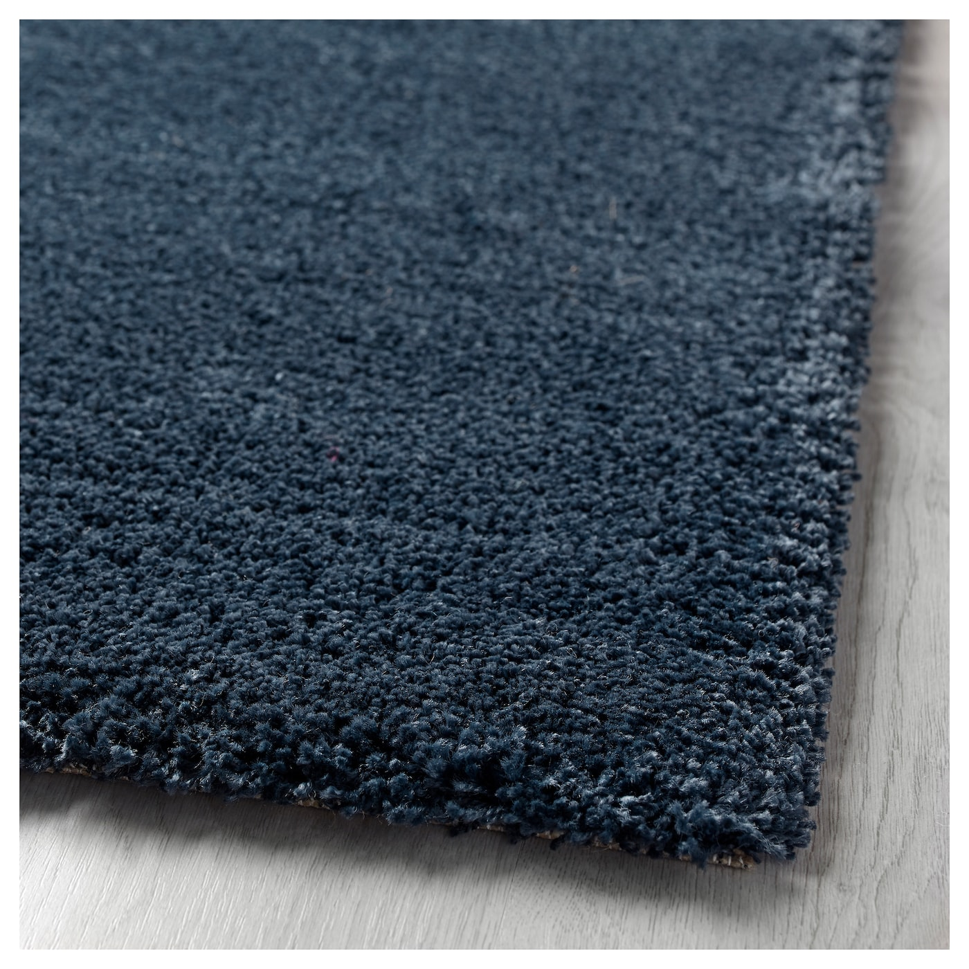 dum rug high pile dark blue 133x195 cm ikea