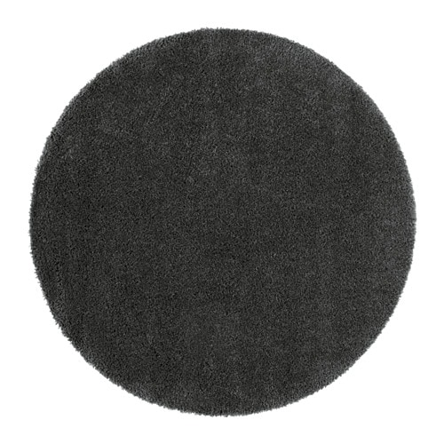 u00c5DUM Rug, high pile Dark grey 130 cm - IKEA