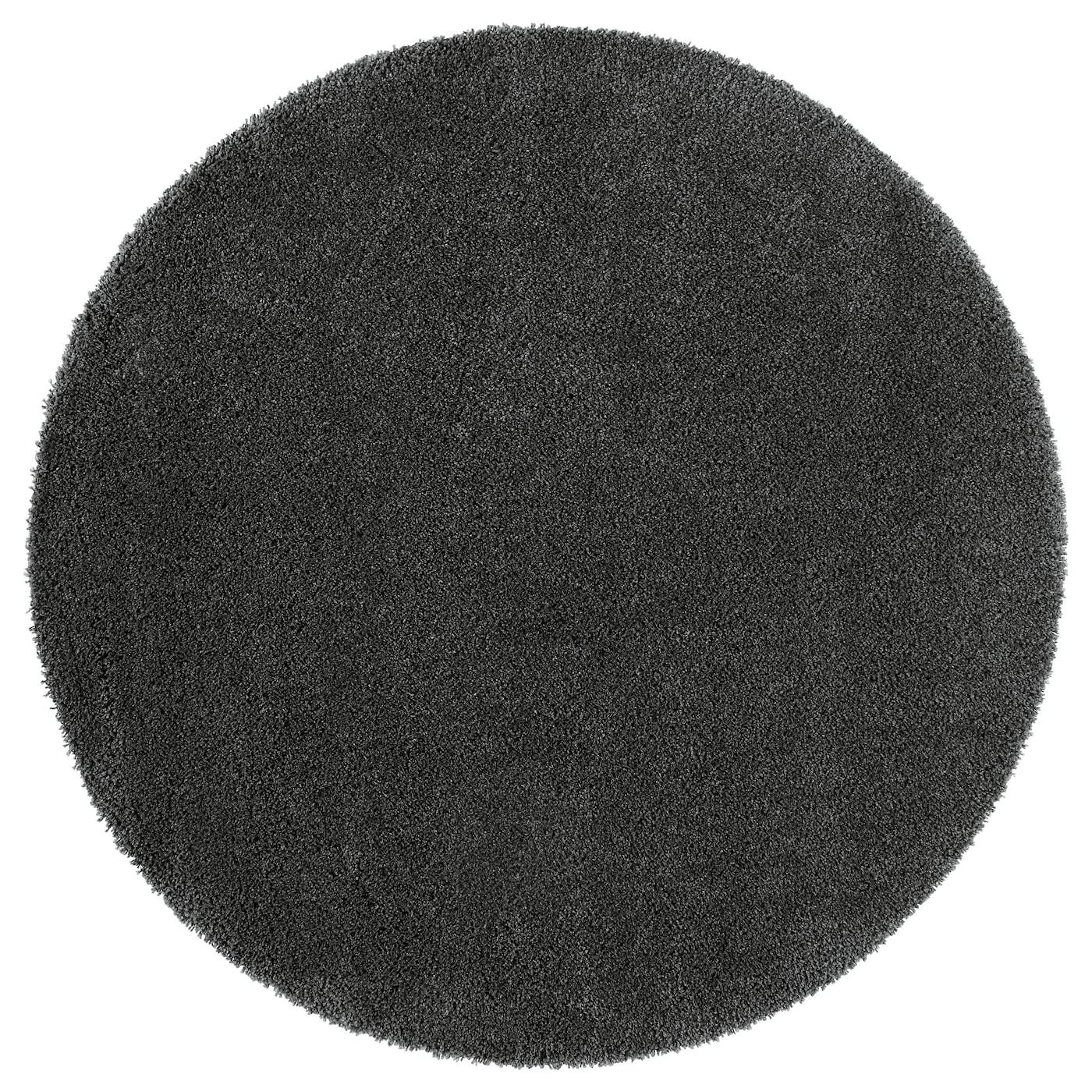 197 Dum Rug High Pile Dark Grey 130 Cm Ikea
