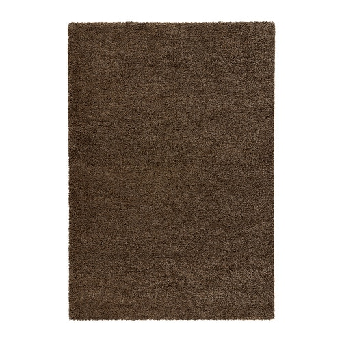 197 Dum Rug High Pile Light Brown 200x300 Cm Ikea