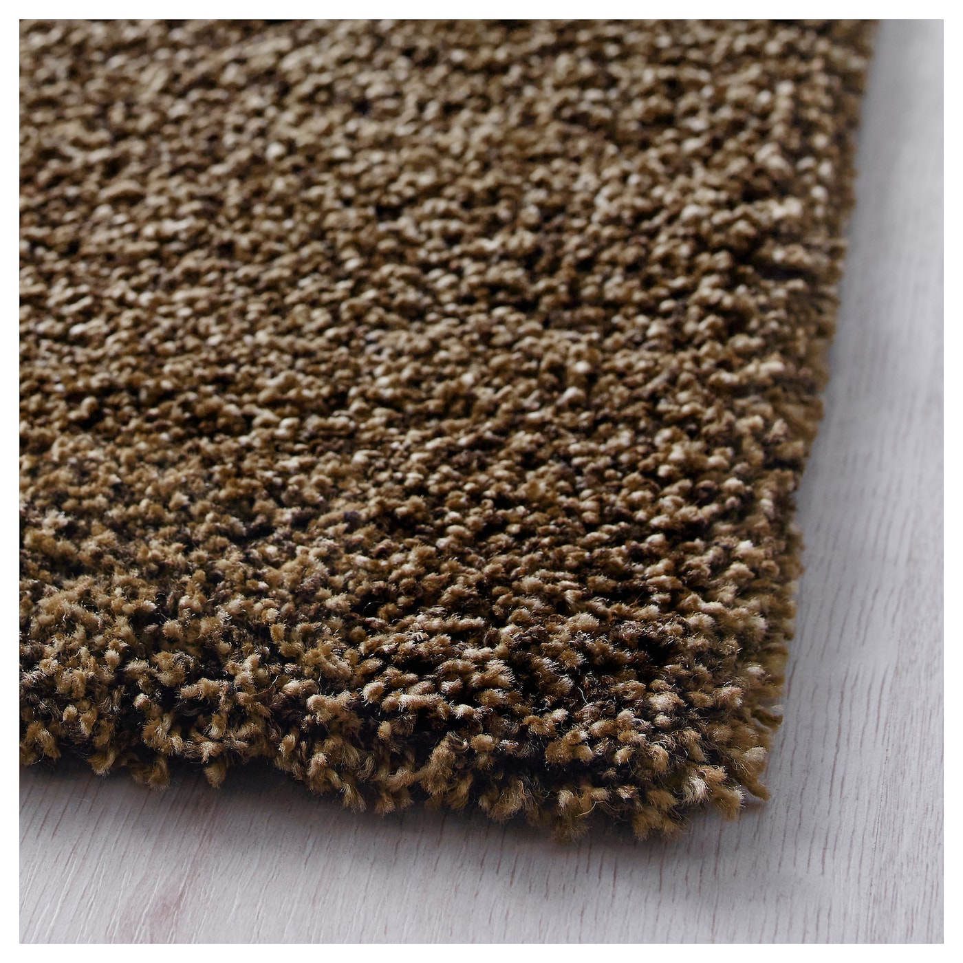 ÅDUM Rug, high pile Light brown 200×300 cm  IKEA