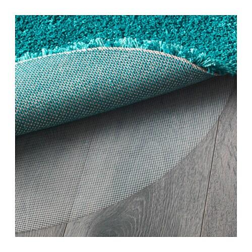 dum rug high pile turquoise 130 cm ikea