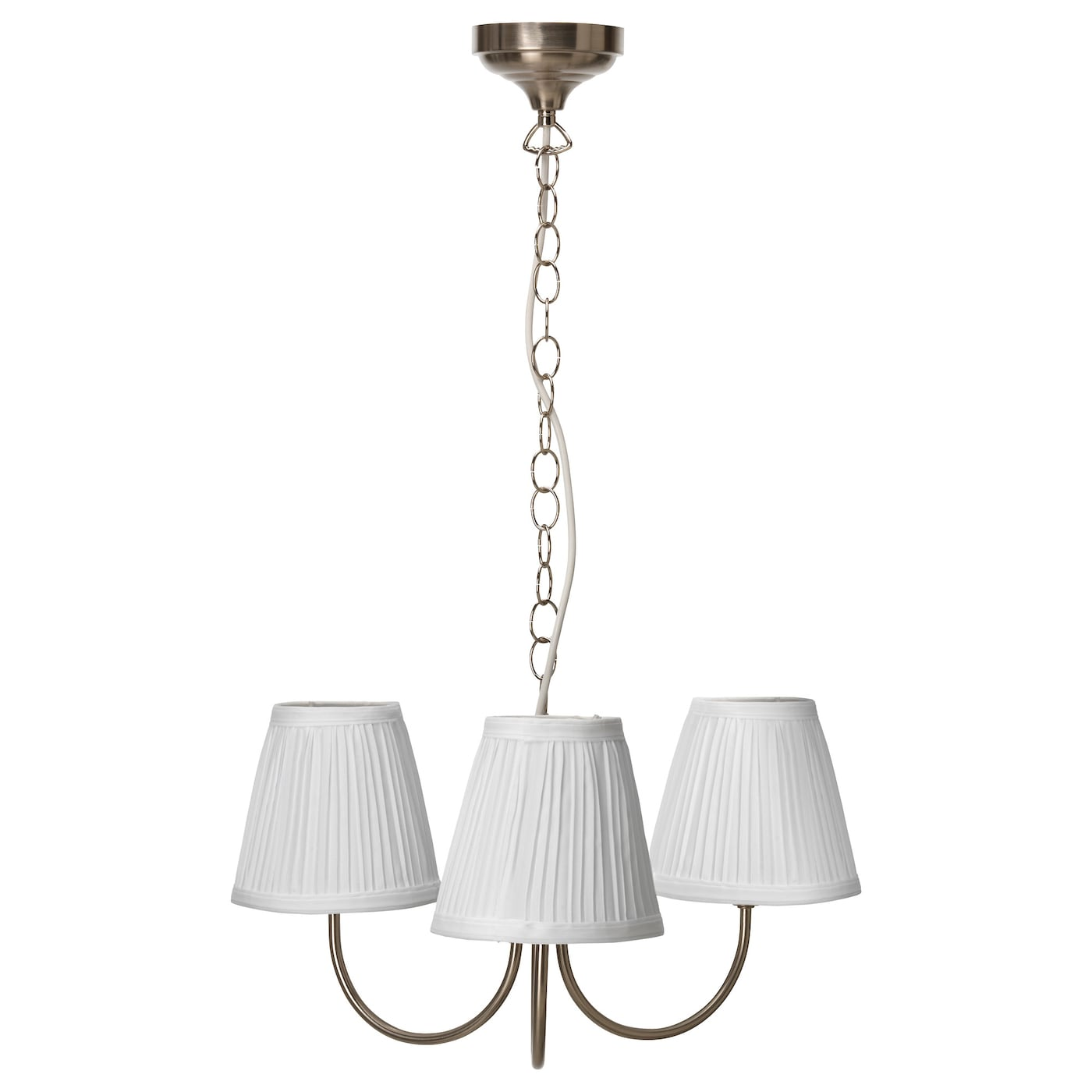 Pendant lighting pendant lamps chandeliers ikea ikea rstid pendant lamp 3 armed the textile shade provides a diffused and decorative aloadofball Images