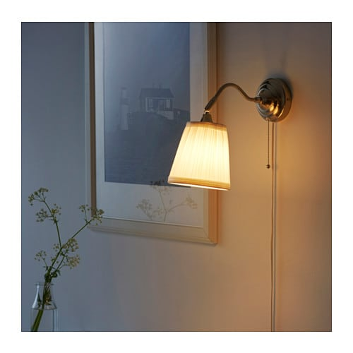 Wall Lamps White : aRSTID Wall lamp Nickel-plated/white - IKEA