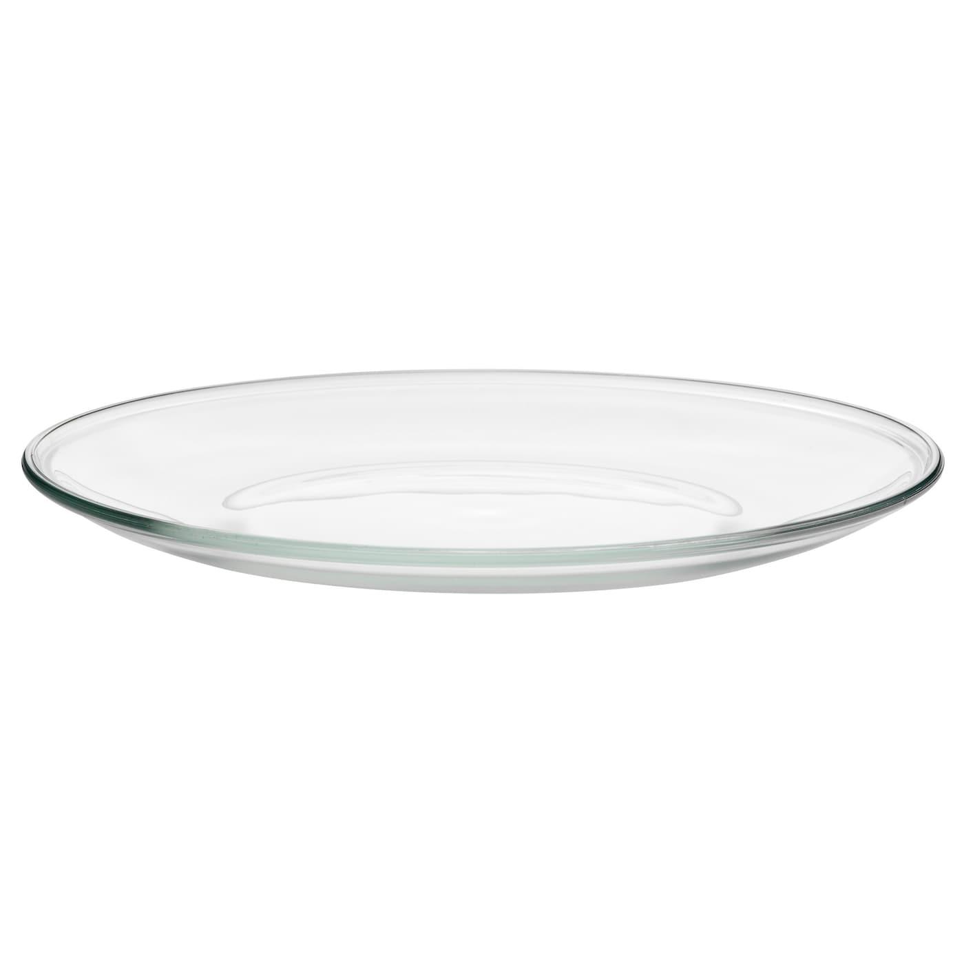 214 Ppen Plate Clear Glass 23 Cm Ikea
