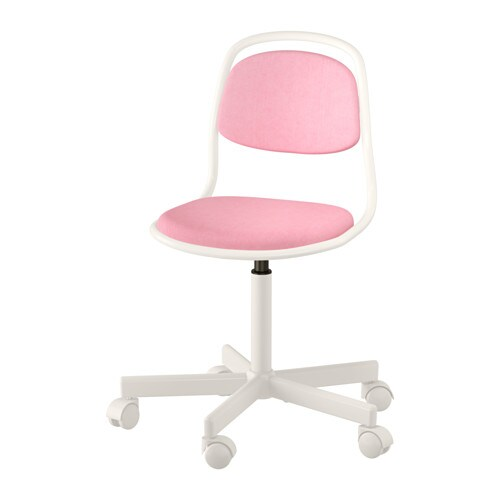 rfj ll children 39 s desk chair white vissle pink ikea. Black Bedroom Furniture Sets. Home Design Ideas