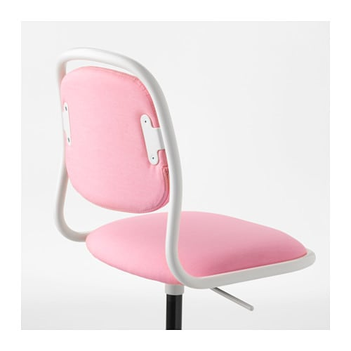 Chaise Qui Roule Of Rfj Ll Junior Chair White Vissle Pink Ikea