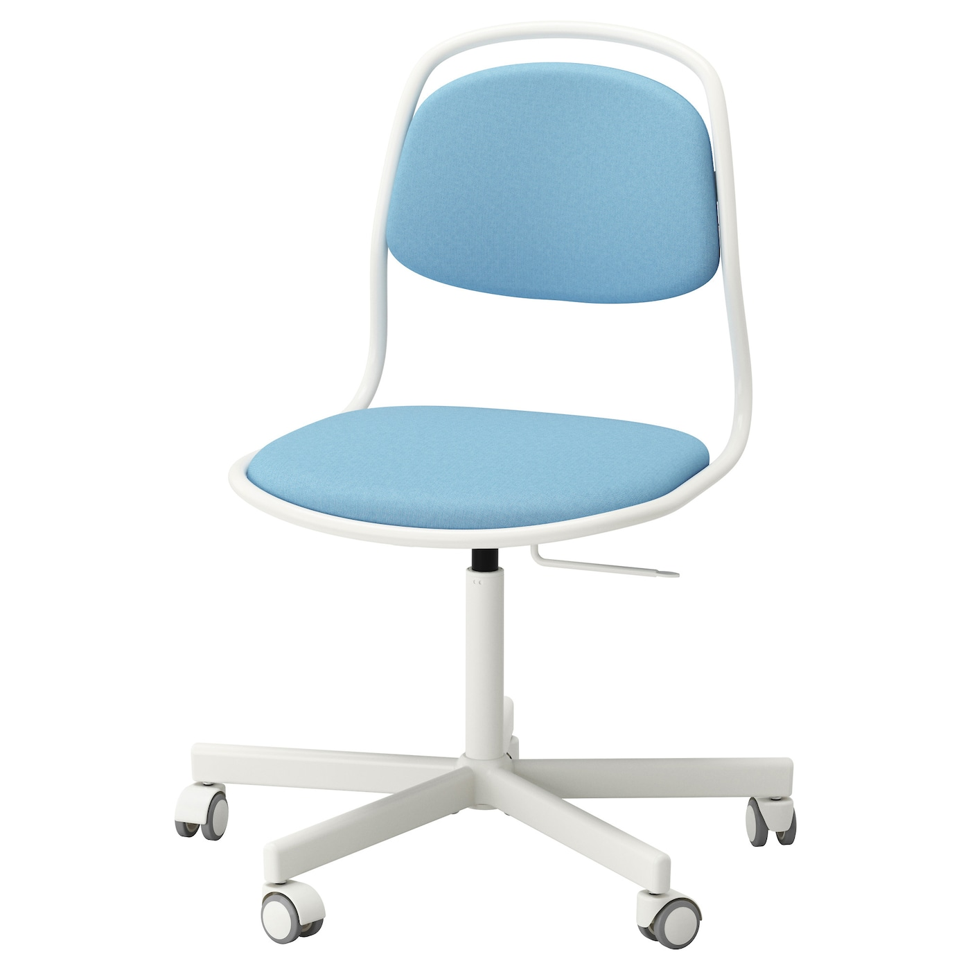 Rfj ll sporren swivel chair white vissle light blue ikea for Ikea office desk chair
