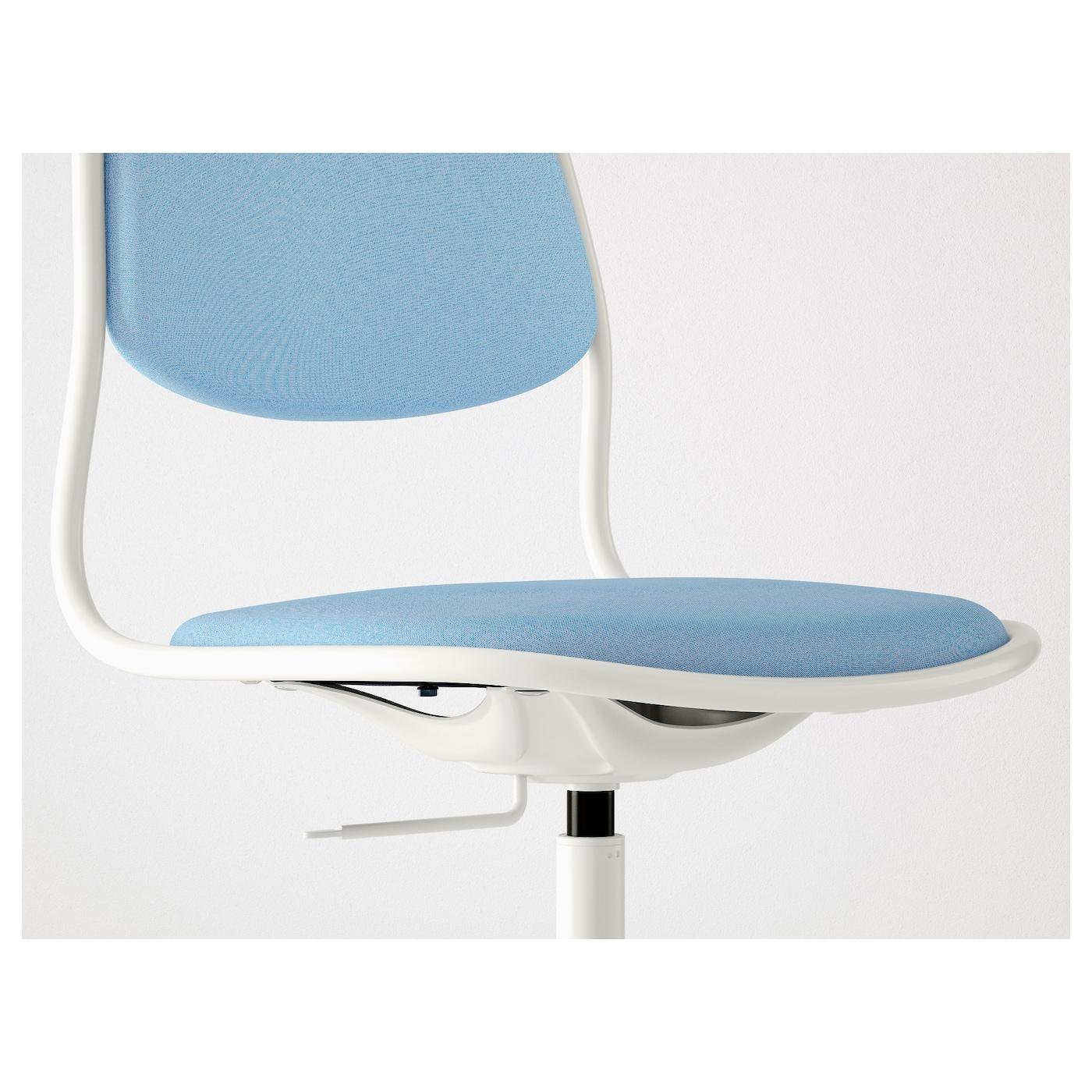 """–RFJ""""LL SPORREN Swivel chair White vissle light blue IKEA"""
